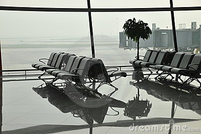 Airport waiting area