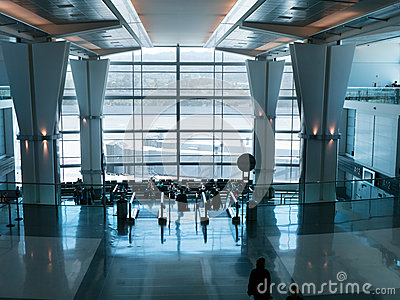Airport waiting area at the gates
