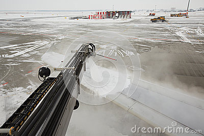 Airport in winter