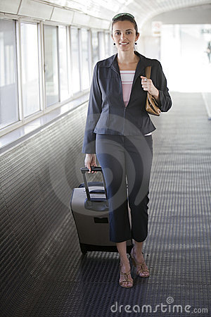 Free Airport Woman Royalty Free Stock Photos - 12255788