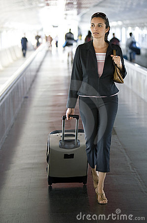 Free Airport Woman Stock Images - 9955144