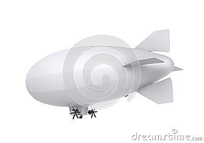 Airship Isolated Stock Photo