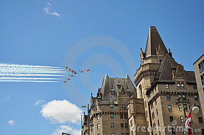 Airshow planes on Canada Day, Ottawa Editorial Photo