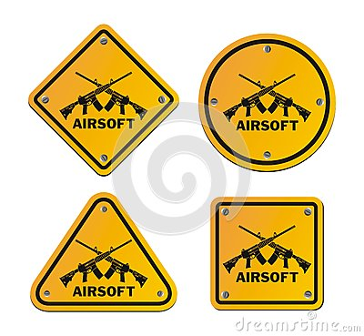 Free Airsoft Roadsigns Royalty Free Stock Images - 51914739