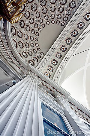 Aisle ceiling of Wilanow church