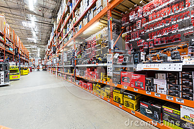 Power tools aisle in a Home Depot hardware store. The Home Depot is ... Home Depot Empty Aisle
