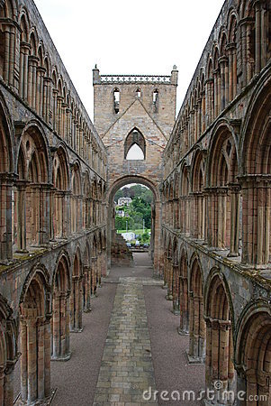 Aisle in Jedburgh Abbey