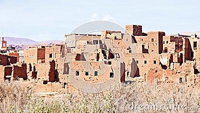 Ait ben Haddou nära Ouarzazate Marocko