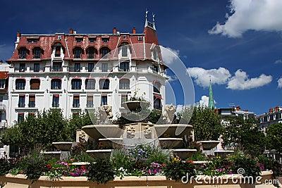 Aix-Les-Bains city center