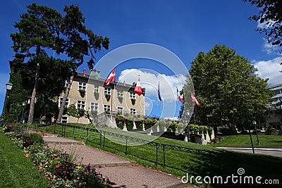 Aix-Les-Bains City Hall park