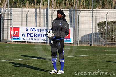 AJ Auxerre training soccer camp Editorial Image