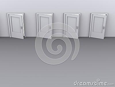 Ajar doors