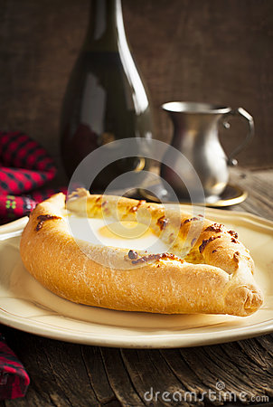 Free Ajarian Khachapuri - Traditional Dish Of Georgian Cuisine. Royalty Free Stock Images - 39961409