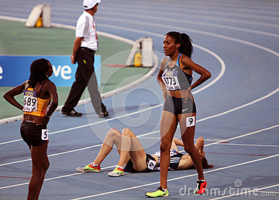 Ajee Wilson from USA the winner of the 800 meters Editorial Photography