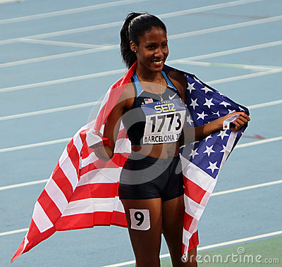 Ajee Wilson the winner of the 800 meters Editorial Photography