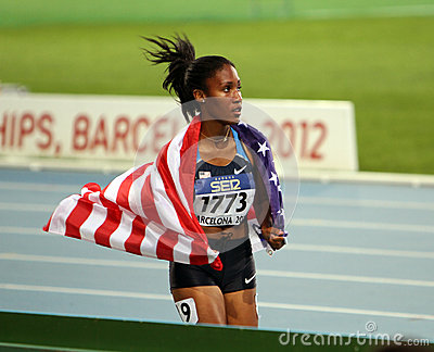 Ajee Wilson the winner of the 800 meters final Editorial Photo