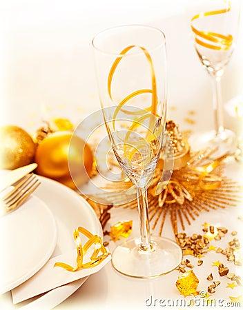 Ajuste festivo luxuoso da tabela