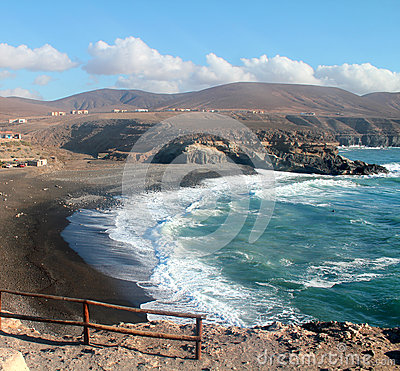 Ajuy Beach in Fuerteventura, Canary Islands,