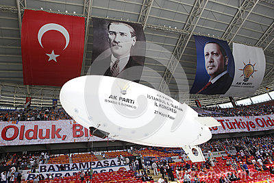 AK Party  s fourth ordinary congress in Istanbul Editorial Photography