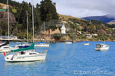 Akaroa, New Zealand Editorial Image