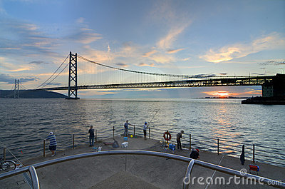 Akashi Kaikyo Bridge Editorial Stock Image