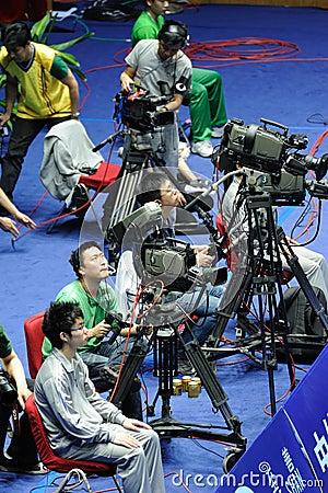 Akcja kamerzysta Zdjęcie Editorial