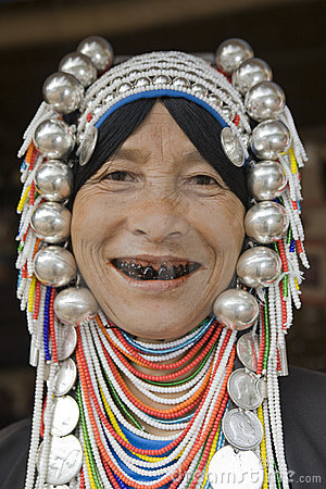 Free Akha Woman In Northern Thailand Stock Images - 4646724