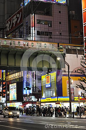 Akihabara by night Editorial Stock Image