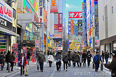 Akihabara, Tokyo, Japan Redactionele Fotografie