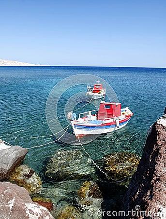 Akrotiri boats