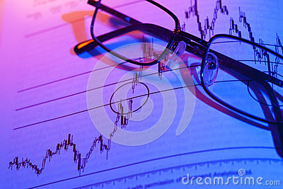Aktienkurve-Handel