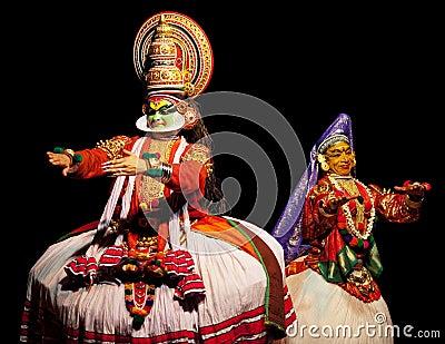 Aktora kathakali dwa Zdjęcie Editorial