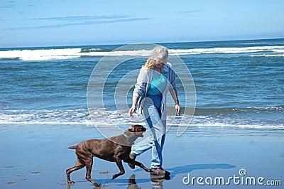 Aktywna starsza kobieta