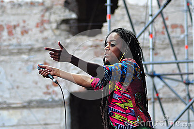 Akua Naru singing live at Electric Castle Festival Editorial Photo
