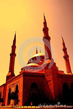 Al-Amin Mosque downtown Beirut Lebanon