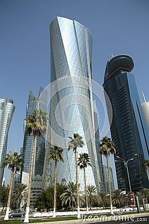 Al Bidda Tower in Doha, Qatar Editorial Stock Image