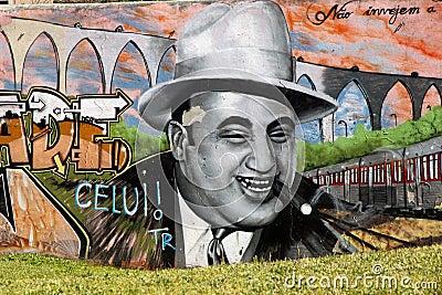 Al Capone graffiti. Editorial Photography