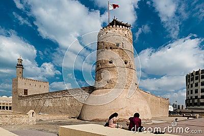The Al Fahidi Fort in Dubai Editorial Stock Photo