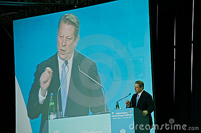 Al Gore Speaking at the UN Climate Summit Editorial Stock Image