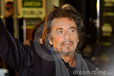 Al Pacino attend at his movie in Dublin Editorial Stock Photo