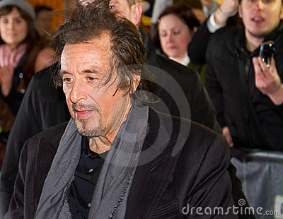 Al Pacino in Dublin Editorial Stock Image
