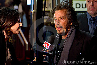 Al Pacino interviewed by Lisa Cannon Editorial Image