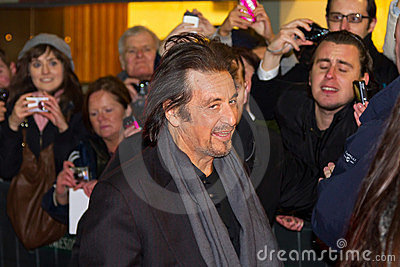 Al Pacino on premiere of his movie in Dublin Editorial Stock Image