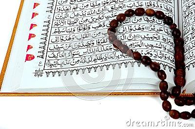 Al Quran and prayer beads