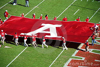 Alabama-Fußballspiel. Redaktionelles Foto