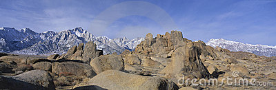 Alabama Hills and Mt. Whitney, CA