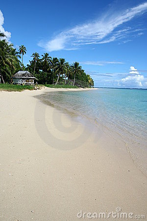 The alabaster beach in south pacific
