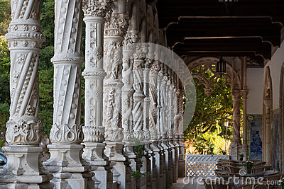 Alabaster columns in Serra do Bussaco