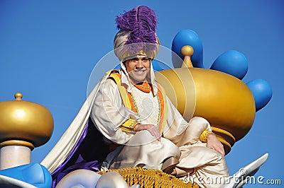 Aladdin in A Dream Come True Celebrate Parade Editorial Image