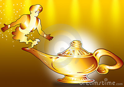 Aladdin and lamp